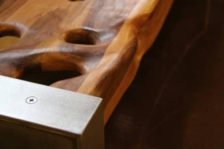 Walnut Bench, by Modern Drift