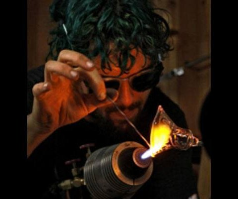 Gremlin Blowing Glass
